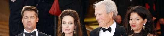 Angelina Jolie y Clint Eastwood en el pasado festival de Cannes acompañados de sus respectivas parejas
