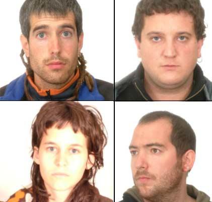Etarras detenidos