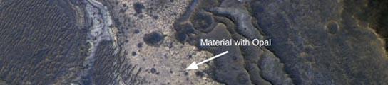 Nuevo mineral en Marte