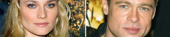 Diane Kruger y Brad Pitt