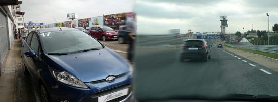 El nuevo Ford Fiesta en el circuito del Jarama.