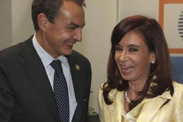 Zapatero y Kirschner.