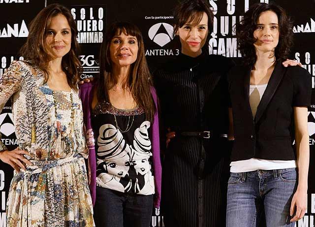 Las protagonistas de 'Sóloquiero caminar': Elena Anaya, Victoria Abril, Ariadna Gil y Pilar López de Ayala.