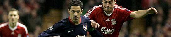 El árbitro evita el triunfo del Atlético en Anfield Road (1-1)