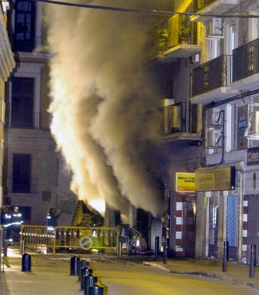 Incendio en el restaurante El Quincho