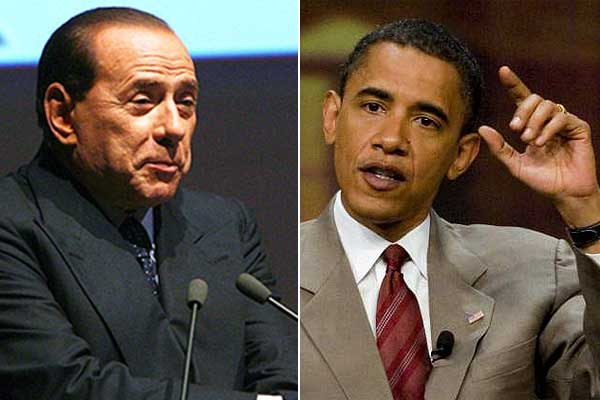 Berlusconi y Obama