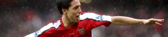 Nasri, jugador del Arsenal