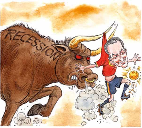 Parodia de 'The Economist' sobre la crisis económica en España