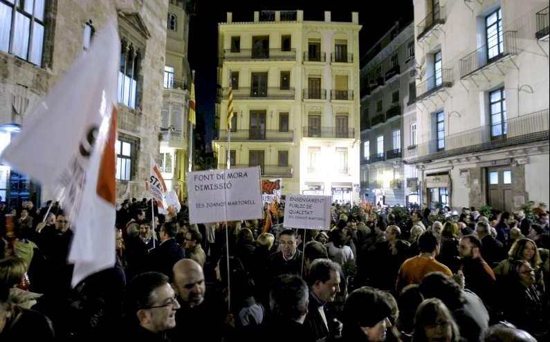 Protestas contra Educación para la Ciudadanía
