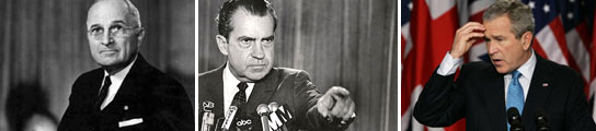Truman, Nixon y Bush