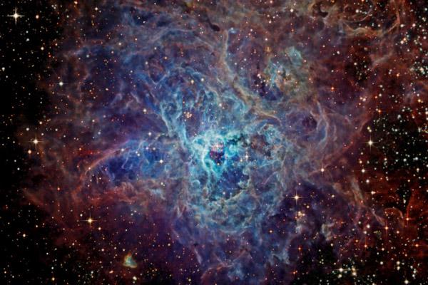 La tela cósmica de la nebulosa de la Tarántula