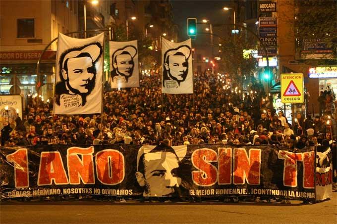Manifestación Carlos Palomino