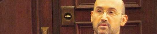 Javier C�mara durante su interpretaci�n de abogado en 'Lex'