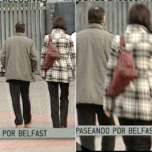 De Juana Chaos, paseando con su pareja en Belfast