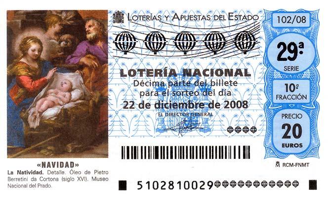 foto decimo loteria navidad: