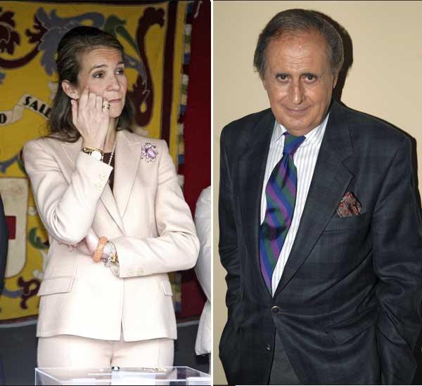 La infanta Elena y Jaime Peñafiel