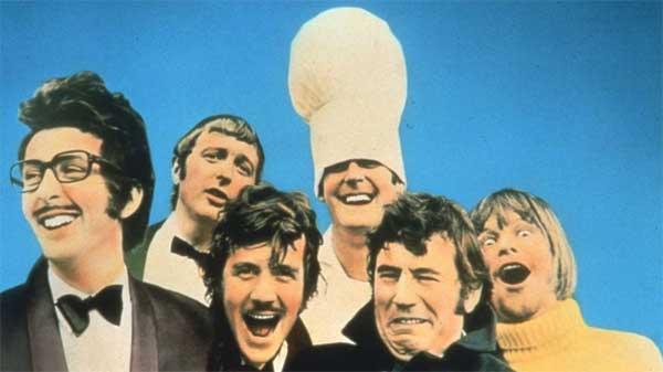 Imagen de los seis miembros de Monty Python.