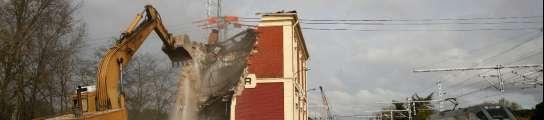 Derrumbe de la estación del Pinar de Antequera