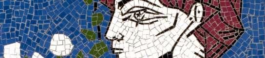 Uno de los mosaicos de las musas de Picasso.