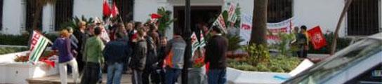 Protesta en Mijas