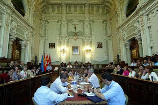 Salón de Plenos del Ayuntamiento de Valladolid