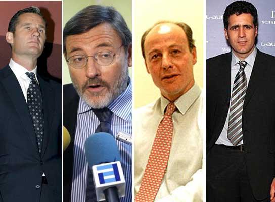 Urdangarín, Lissaveztky, Corbalán e Indurain