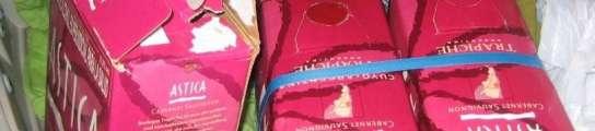 Envases en los que uno de los cabecillas traía droga desde Colombia