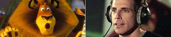 Alex, el protagonista de 'Madagascar 2', y Ben Stiller.
