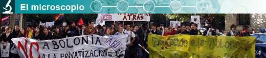 Manifestación contra el Plan Bolonia