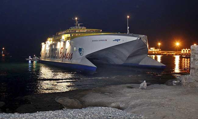Ferry encallado