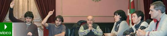 Pleno en el Ayuntamiento de Azpeitia.