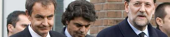 Zapatero y Rajoy, en el tanatorio