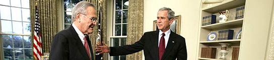 Rumsfeld y Bush
