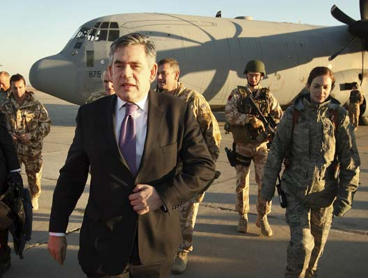 Gordon Brown, en Irak.