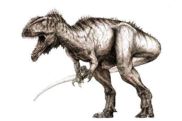 Dinosaurio carnívoro del Sáhara.