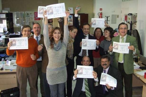 Sevillanos ganadores del segundo premio de la Lotería