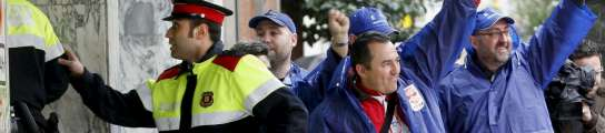 Manifestación en la Diagonal contra los despidos en Roca