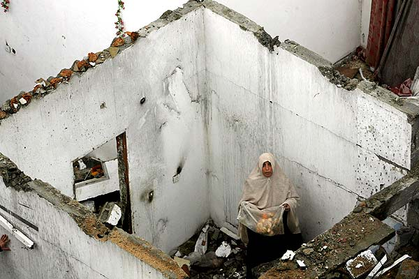 Casa destruida en Gaza (31/12/2008)