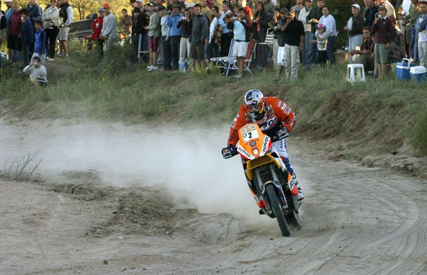 Una imagen de Marc Coma en el Rally Dakar 2009