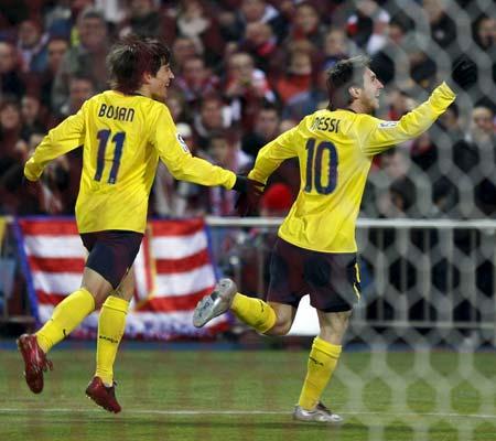 Messi celebra su tanto