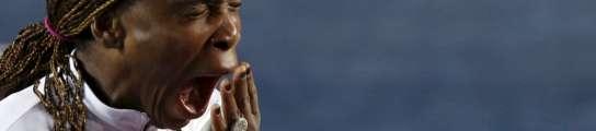 Venus Williams, bostezando