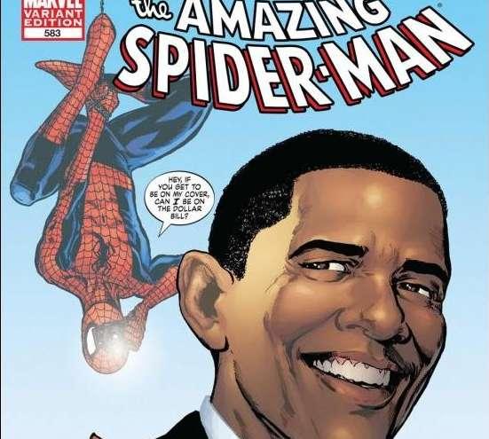 Obama conoce a Spiderman