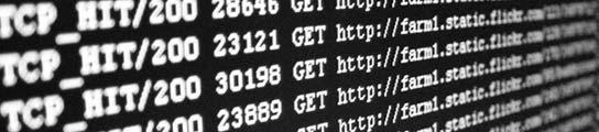 Datos en la pantalla de un ordenador