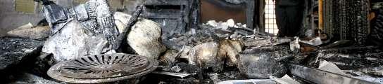 Estado vivienda incendiada