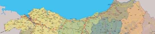 Mapa de Euskal Herria.