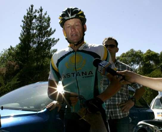 Lance Armstrong, en Australia