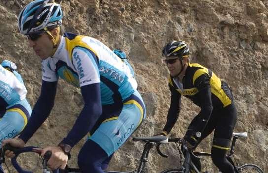 Chechu Rubiera, con Lance Armstrong
