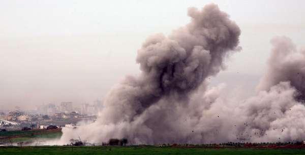 Ataques sobre el sur de Gaza.