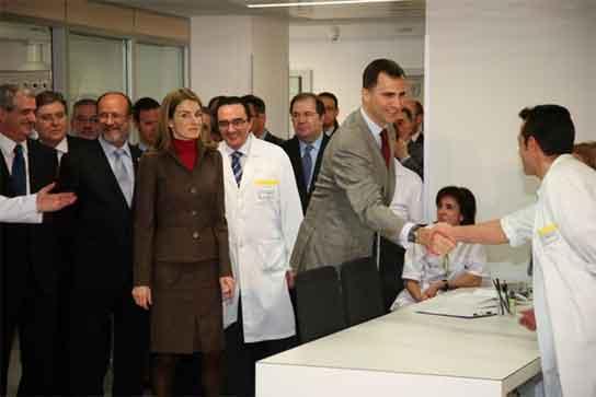 Los Príncipes inauguran el nuevo hospital de Valladolid.