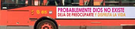 Así lucirán los autobuses de Madrid la propaganda atea